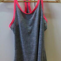 -Stylish Grey With Pink Trimming Racer Back Top From Adidas - Size S Photo