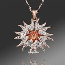 Stylish Nice Gift 18k Rose Gold Plated Swarovski Crystal Necklace Pandent N171 Photo
