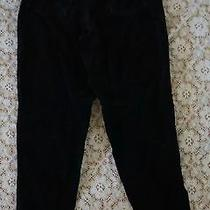 Stylish  Pure Cotton Gap Black Velour Jeans Sz 10 Vg  Cond Teen or Girl  Photo