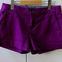 Stylish Purple Shorts From Banana Republic - Size 8 Petite Photo