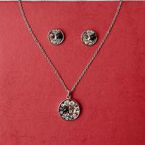 Stylish Round Pendant Necklace With Swarovski Crystal Perfect Gift N1239 Photo