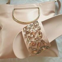 Stylish Set Rhinestone Sandals Blush Pink Beach Bling Slides Shoes Sz 10  Bag  Photo