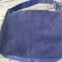 Stylish Simple Gap Large Purple Suede Shoulder Bag Purse Hobo Tote Photo