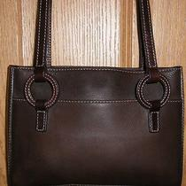 Stylish Small Brown Pebbled Leather Vintage Fossil Shoulder Bag Purse  Photo