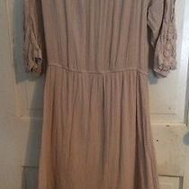 Su16 Topshop Crochet Daisy Boho Dress in Nude Blush Size 8 Photo