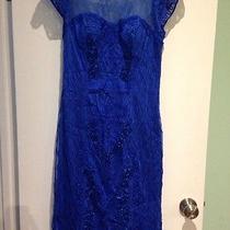 Sue Wong 650 Prom Royal Blue Dress Lace Ribbon Detail 6 8 10 Dress Prom Wedding Photo