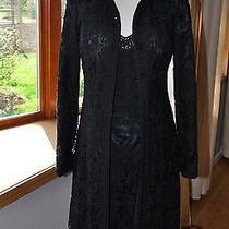 Sue Wong 8/10 Dress & Jacket Set Black Tape Lace Cocktail Party Elegant Photo