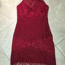 Sue Wong Lace Red Dress Size 10  Photo