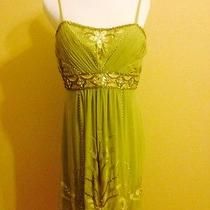 Sue Wong Light Green Beaded and Crystal Cocktail/prom Dress Photo
