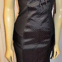 Sue Wong Long Dress 100% Silk Black Fitted Fun Great Fun  Hem and Back Size 6 Photo