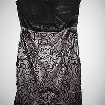 Sue Wong Nocturne Elegant Beaded Mini Dress Black 10 Photo