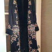 Sue Wong Nocturne Embroidered Floral Silk Evening Holiday Coat Wearable Art Sz 2 Photo