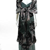 Sue Wong Nocturne Multicolored Beaded Spaghetti Strap Tiered Gown Shawl Sz 6 Photo