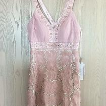 Sue Wong Rose Blush Silver Bridal Wedding Formal Prom Sequin Dress New Size 4 Photo