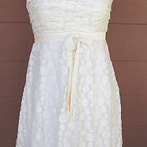 Sue Wong  Sz 10  White Circle Formal Short  Dress Photo
