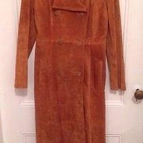 Suede and Leather Maxi Coat Photo