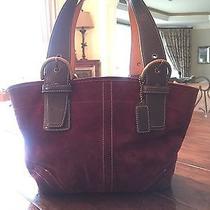 Suede Coach Handbag Photo