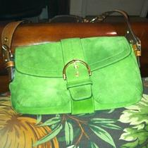 Suede Green Coach Purse Photo
