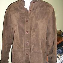 Suede Leather Shirt Grunge Bagatelle Brown Jacket 1990sz S/m True Vtg Photo