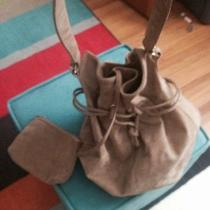 Suede Pigskin Hobo Bag From the 1970s. Euc. Large Photo