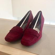 Suede Pumps Burgundy (8.5 m) Brand New With Box Photo