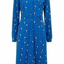 Sugarhill Brighton Current Toucan Elspeth Shirt Dress Size 10 8 Print New Midi Photo