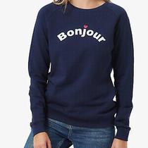 Sugarhill Brighton Ladies Navy Blue Crew Neck French Sweatshirt Jumper Size 14 Photo
