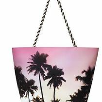 Summer Beach Bag - Tote - Pink Palm Trees - by Avon Photo