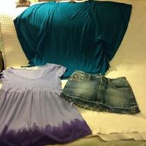 Summer Clearance Women's Lot of 3 Size S 2 Tops & 1 Skirt-Dkny & Other Photo