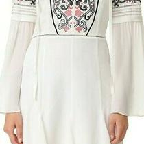 Summer Fall Embroidered Boho Tribal Dress  Sz Xs  Ivory Photo