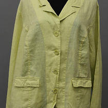 Summer Flax Linen L/s Pocket Gotta Have It Jacket Blazer Honeydew 2g Nwt Photo