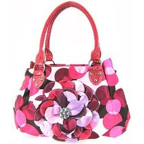 Summer Polkadot 3d Raised Flower Purse Pink Dots Photo