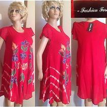 Summer Red Dress. by Fashion Force -One Sise Photo
