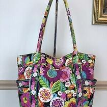 Summer Vera Bradley Va Va Bloom Bag Purse Tote Pink Yellow Orange Purple Retired Photo
