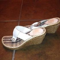 Summer White Burberry Wedges Photo