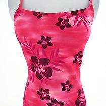 Sun Blush Size 8 Pink Hawaiian Hibiscus Floral Tankini Swim Top Photo