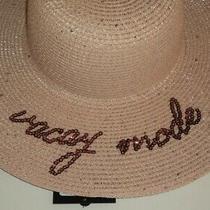 Sun Hat Natural Straw Weave Pink Blush Rose Gold Vacay Mode Ladies - Flash Sale Photo