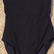 Sun Streak by Newport News Black Animal Print One Piece Swim Suit Size 8 Photo