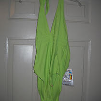 Sun Streak by Newport News Womens Green One Piece Size 14 - New W/tags Photo