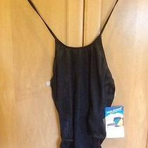 Sun Streak by Newport News Womens One Piece Swimsuit - Black- Size 12 Photo