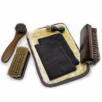 Sunbroy Shoe Shine Set Horsehair Brush Hog Bristle Brush Shoe Care Leather Care Photo