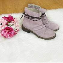 Sundance Catalog Blush Pink Suede Leather Wrap Tie Slouch Ankle Boots Size 36   Photo