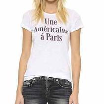 Sundry Women's White Americane a Paris Tee Nwt Size  2 32.98 Photo