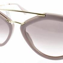 Sunglasses Prada Cinema Pr 12qs Tkp4k0 Women Cinema Opal Pink Matte Aviator Photo