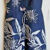 Suno Women's Jumpsuit Navy-Silver Size 4 Flare Leg Button-Zip Front Nwt Photo
