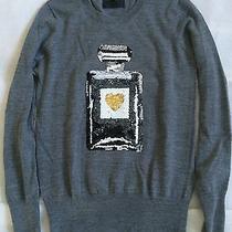 Super Cool Markus Lupfer Sequin Perfume Bottle Heart Sweater Jumper Top Size S Photo