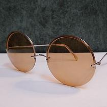 Super Cool Vintage Big Round Hippie Women's Sunglasses Rimless 1960's Photo