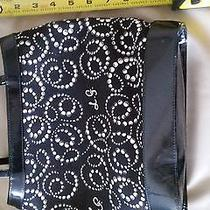 Super Cute and Fun Lulu Guiness Bag. Used. Black and White . Bargain Photo