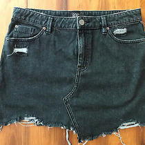Super Cute Bdg Urban Outfitters Black Denim Skirt - Size Large - Love This Photo