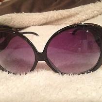 Super Cute Oversized Black Sunglasses  Photo